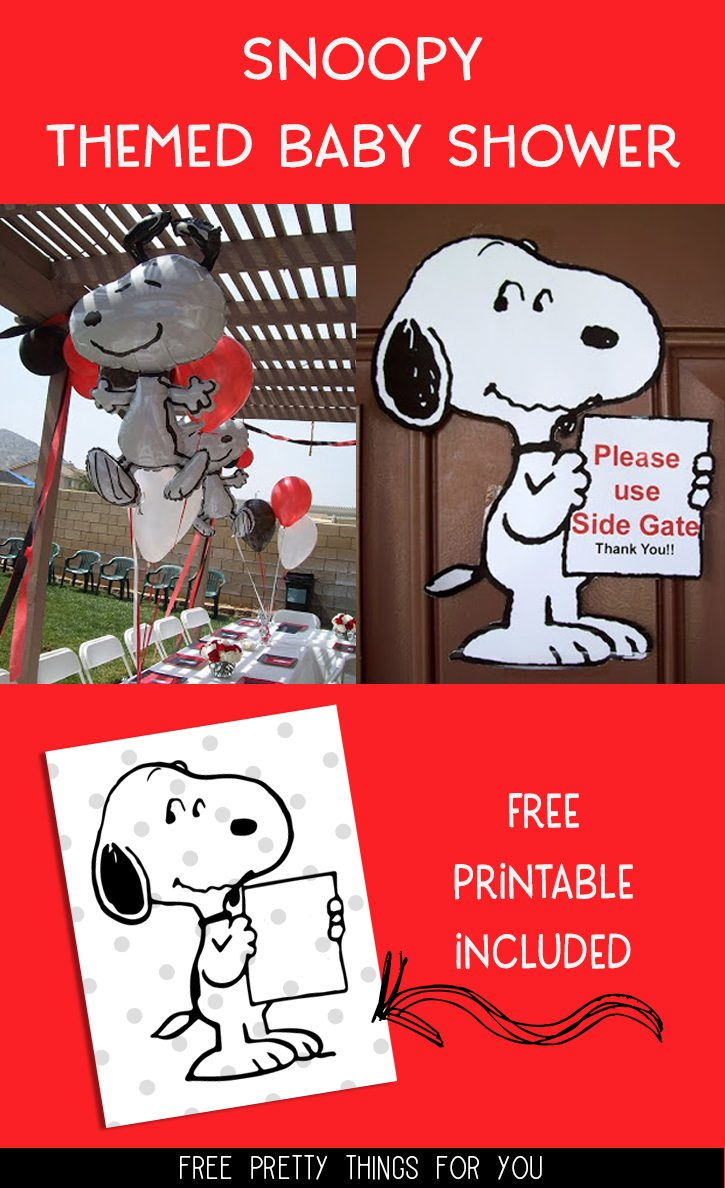 Free Snoopy Holding a Sign Printable