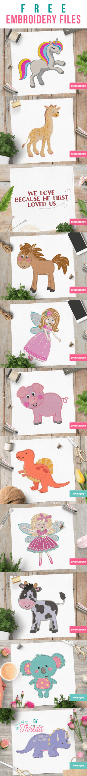 Free Applique designs and embroidery designs