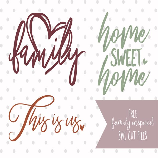 Family Inspired SVG Cut Files