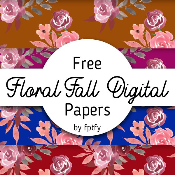 Free Floral Fall Digital Paper