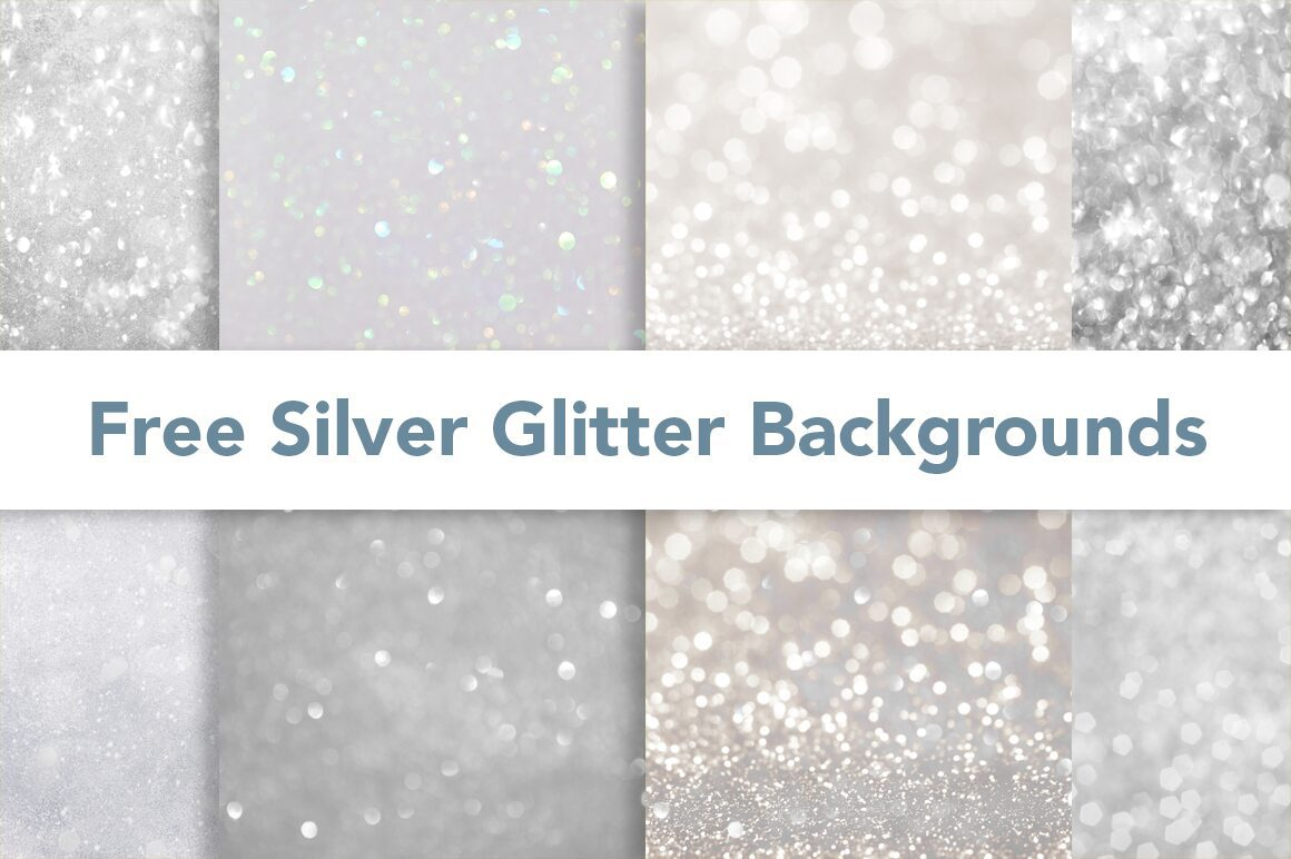 Free Silver Glitter Backgrounds