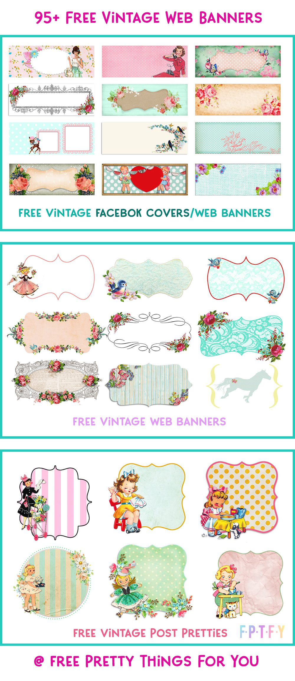 95+ Facebook covers vintage web banners
